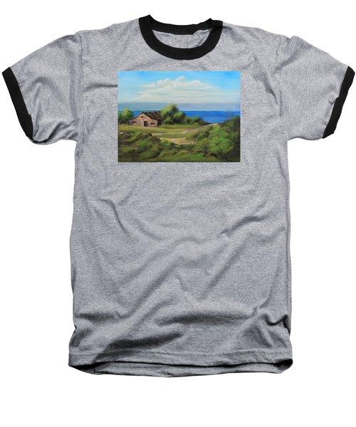 Sea Breeze Baseball T-Shirt by Remegio Onia