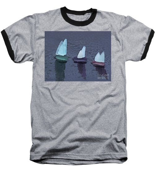 Sea Glass Flotilla Baseball T-Shirt
