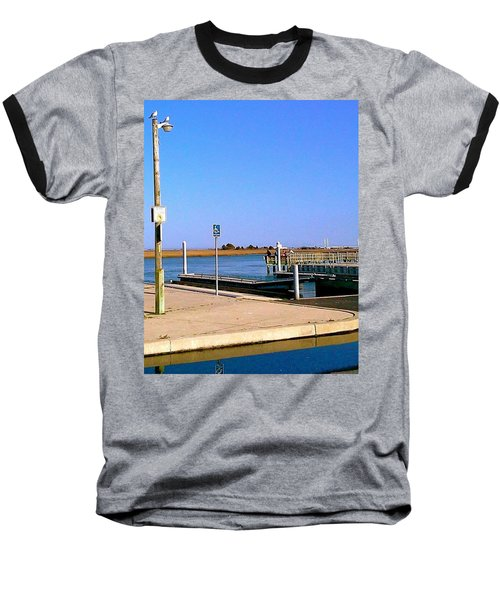Sea Gulls Watching Over The Wetlands Baseball T-Shirt by Amazing Photographs AKA Christian Wilson