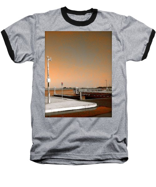 Sea Gulls Watching Over The Wetlands In Orange Baseball T-Shirt by Amazing Photographs AKA Christian Wilson