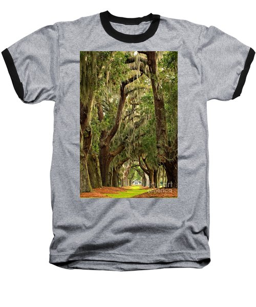 Sea Island Oaks Portrait Baseball T-Shirt