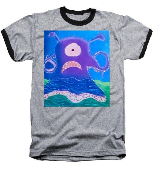 Monsterart Sludge Baseball T-Shirt by Joshua Maddison
