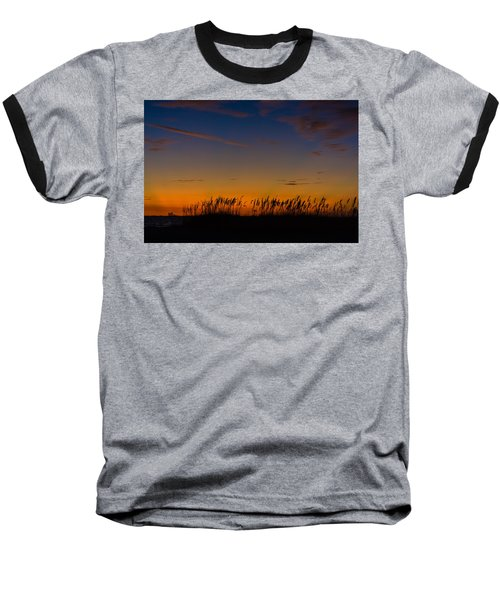 Sea Oats At Twilight Baseball T-Shirt