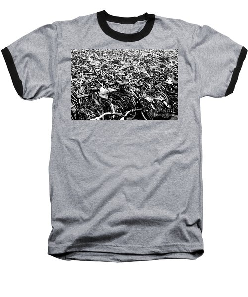 Baseball T-Shirt featuring the photograph Sea Of Bicycles 3 by Joey Agbayani