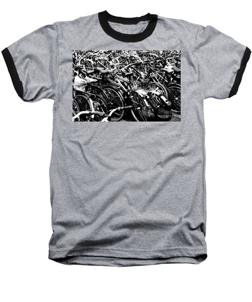 Baseball T-Shirt featuring the photograph Sea Of Bicycles 2 by Joey Agbayani