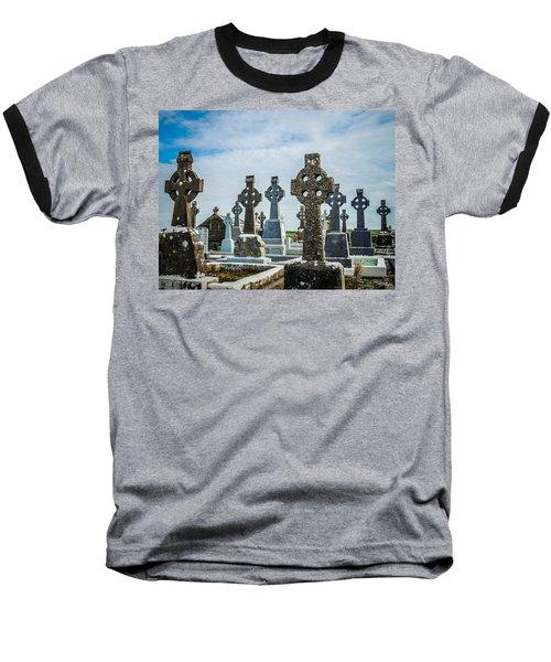 Sea  Of Celtic Crosses Baseball T-Shirt