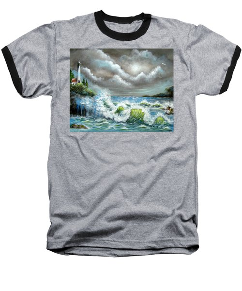 Baseball T-Shirt featuring the painting Sea Of Smiling Faces by Patrice Torrillo