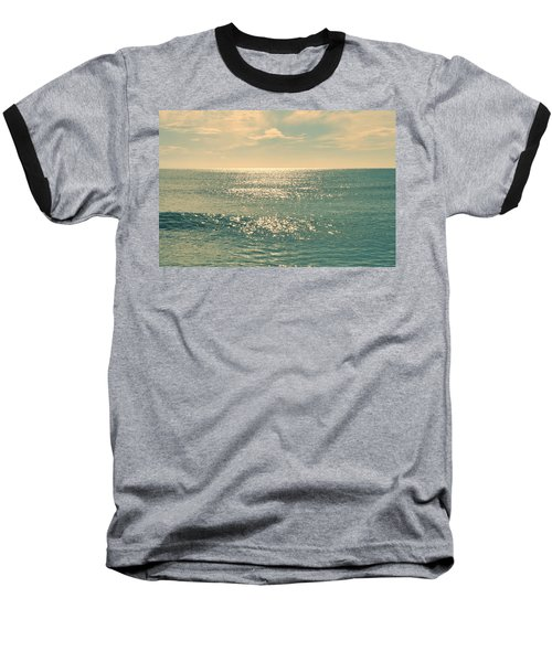 Sea Of Tranquility Baseball T-Shirt by Laura Fasulo
