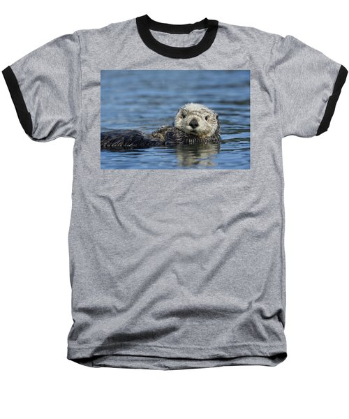 Sea Otter Alaska Baseball T-Shirt by Michael Quinton