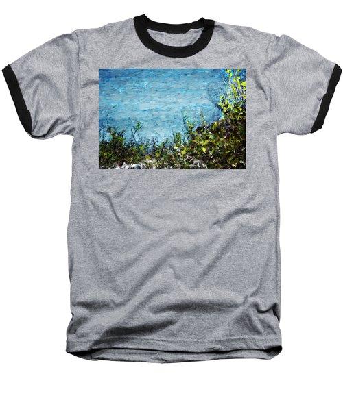 Baseball T-Shirt featuring the digital art Sea Shore 1 by David Lane