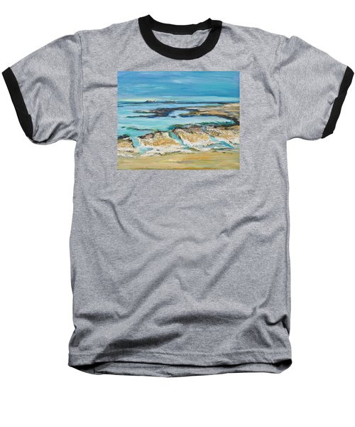 Sea Sky And Beach Baseball T-Shirt