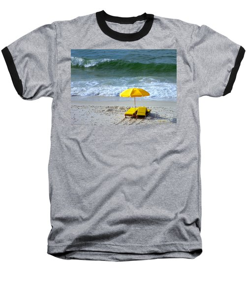 Baseball T-Shirt featuring the photograph By The Sea Waiting For Me by Nava Thompson