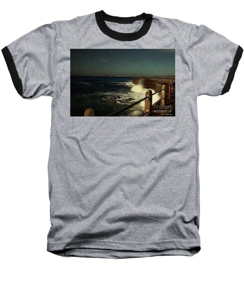 Sea Wall At Night Baseball T-Shirt
