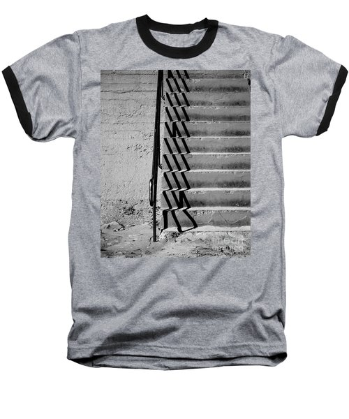 Sea Wall Steps Baseball T-Shirt by Perry Webster