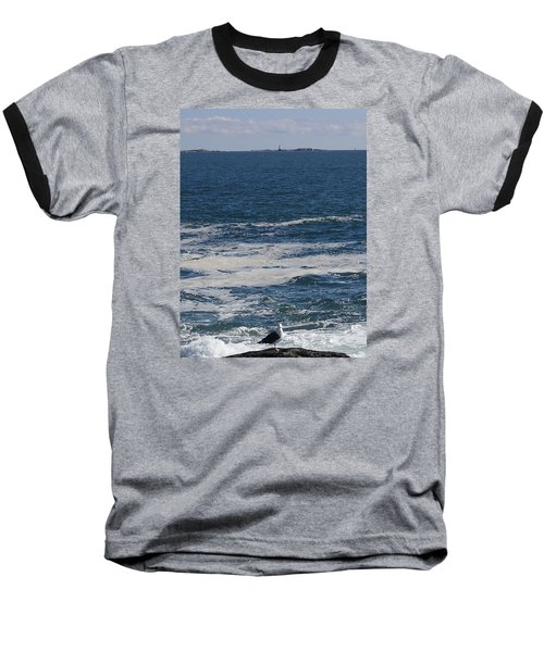 Baseball T-Shirt featuring the photograph Seabreeze. by Robert Nickologianis