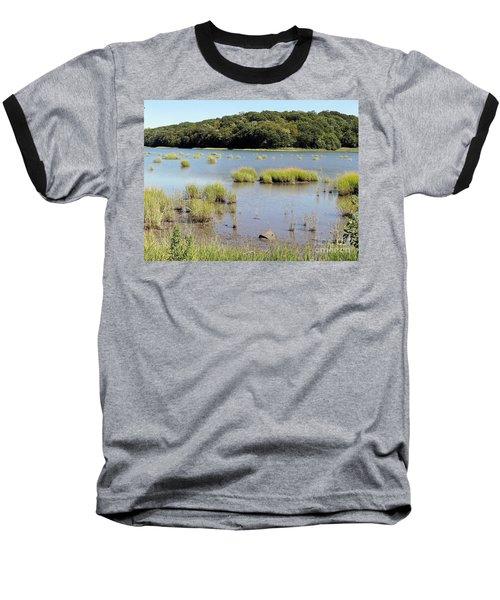 Baseball T-Shirt featuring the photograph Seagrass by Ed Weidman
