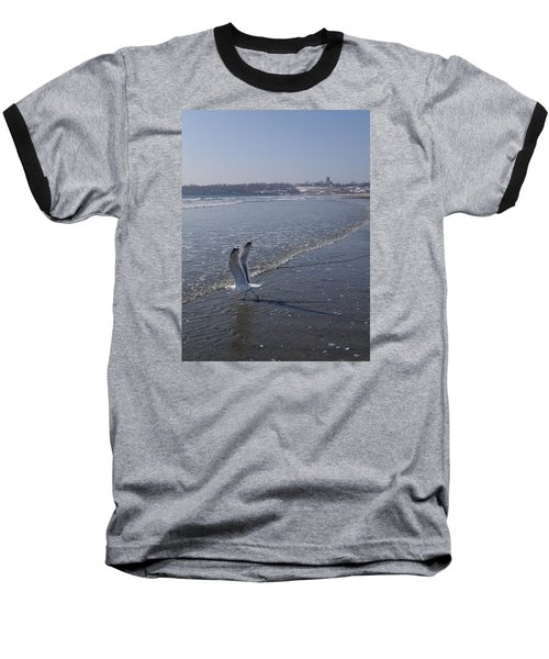 Baseball T-Shirt featuring the photograph Seagull 1 by Robert Nickologianis