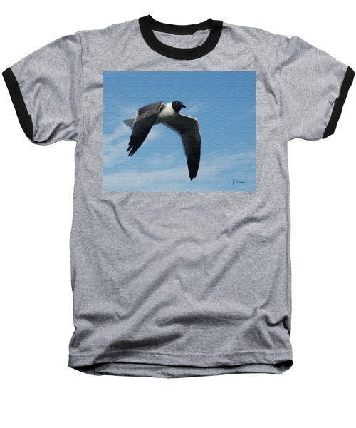 Baseball T-Shirt featuring the photograph Seagull In Flight by James C Thomas