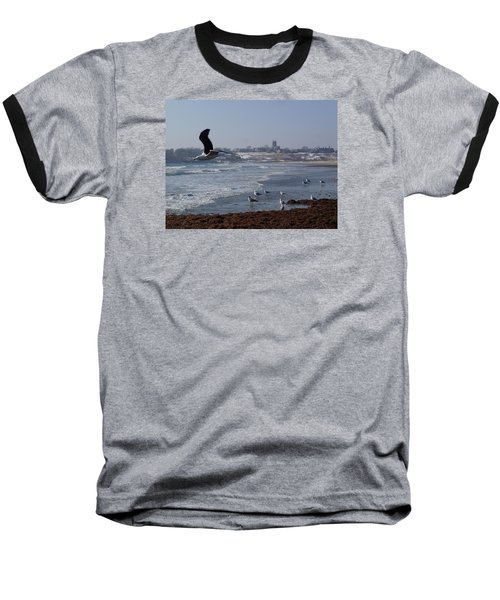 Baseball T-Shirt featuring the photograph Seagull by Robert Nickologianis