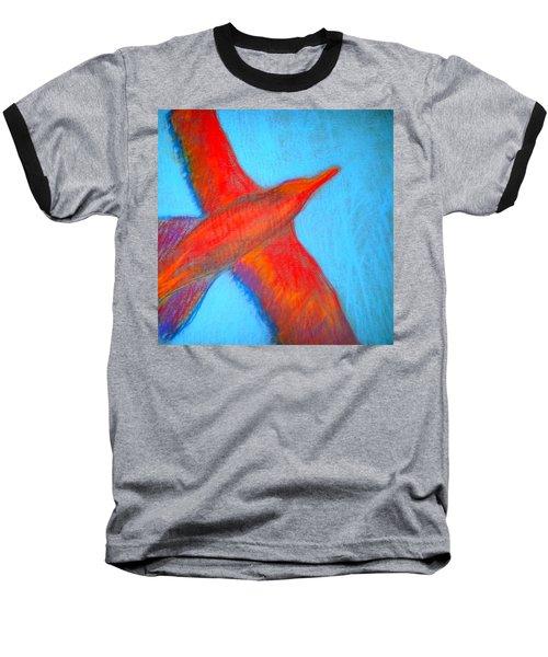 Seagull Silhouette Baseball T-Shirt