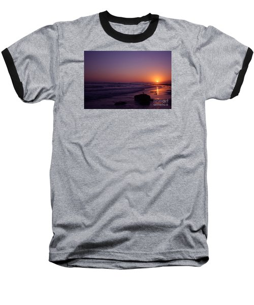 Seagull Watching The Sunset Carpinteria State Beach Baseball T-Shirt