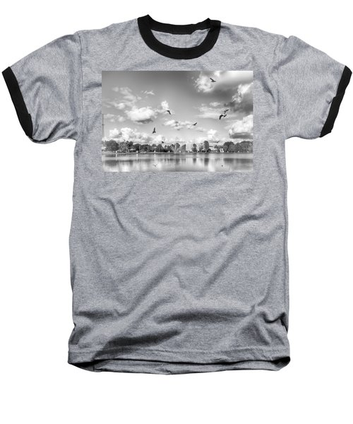 Baseball T-Shirt featuring the photograph Seagulls by Howard Salmon