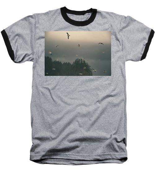 Seagulls In A Storm Baseball T-Shirt