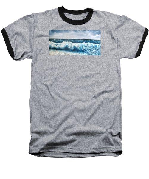 Seagulls Baseball T-Shirt by Katia Aho