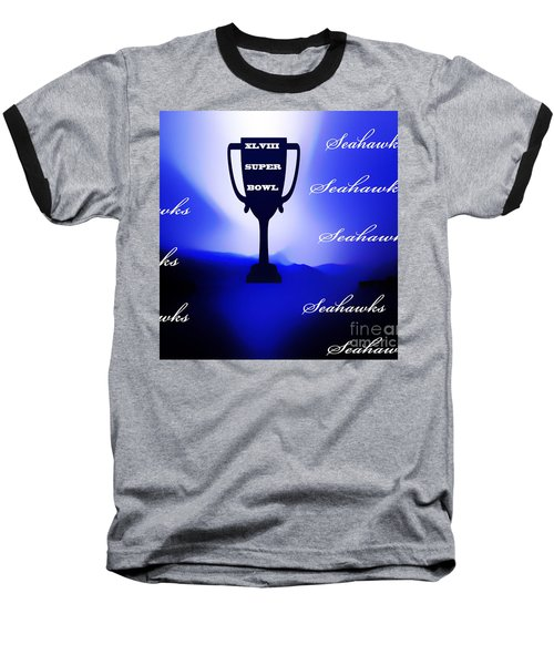 Baseball T-Shirt featuring the photograph Seahawks Super Bowl Champions by Eddie Eastwood
