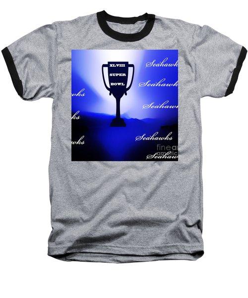 Seahawks Super Bowl Champions Baseball T-Shirt by Eddie Eastwood