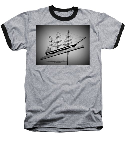 Baseball T-Shirt featuring the photograph Seaman's Bethel Weathervane  by Kathy Barney
