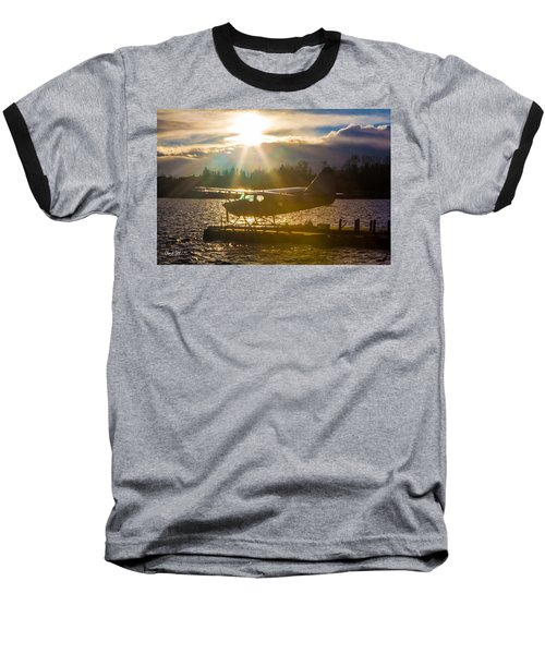 Seaplane Sunset Baseball T-Shirt