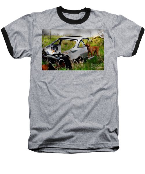 Baseball T-Shirt featuring the photograph Search And Rescue by Liane Wright