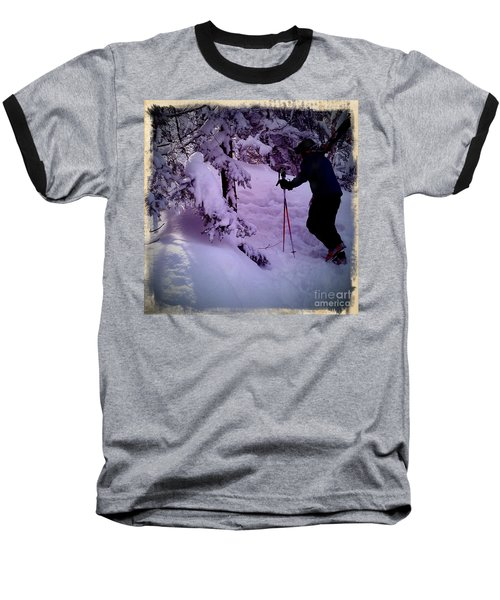 Baseball T-Shirt featuring the photograph Searching For Powder by James Aiken