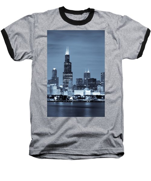 Baseball T-Shirt featuring the photograph Sears Tower In Blue by Sebastian Musial