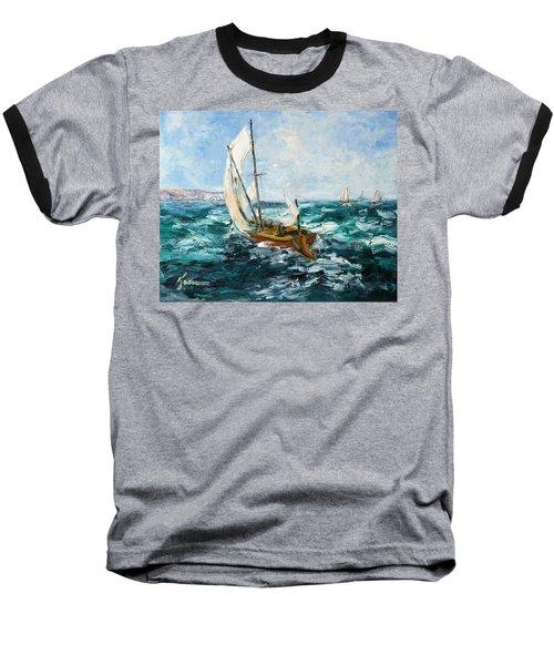 Seascape Baseball T-Shirt