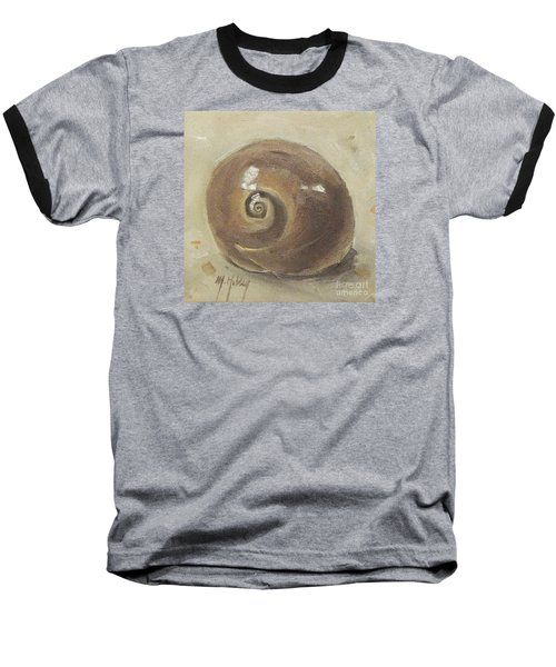 Seashell Beach Moon Shell Snail  Baseball T-Shirt by Mary Hubley