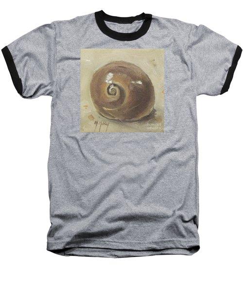 Seashell Beach Moon Shell Snail  Baseball T-Shirt
