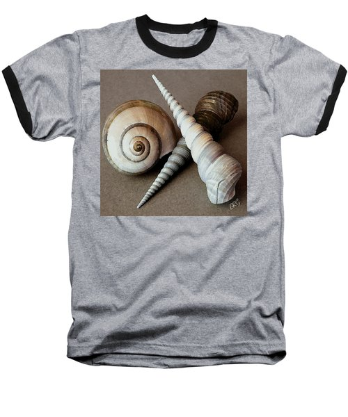 Seashells Spectacular No 24 Baseball T-Shirt by Ben and Raisa Gertsberg