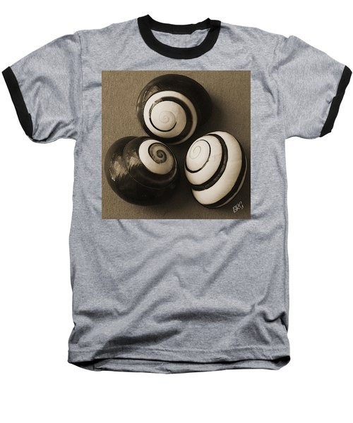 Seashells Spectacular No 28 Baseball T-Shirt by Ben and Raisa Gertsberg
