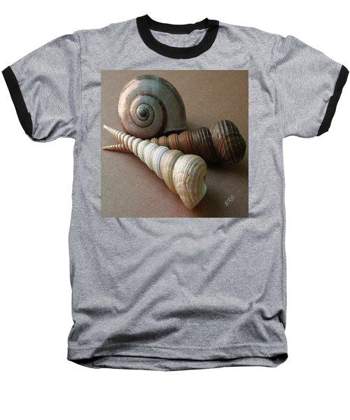 Seashells Spectacular No 29  Baseball T-Shirt by Ben and Raisa Gertsberg