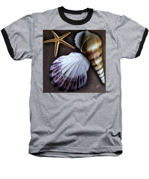 Seashells Spectacular No 37 Baseball T-Shirt by Ben and Raisa Gertsberg