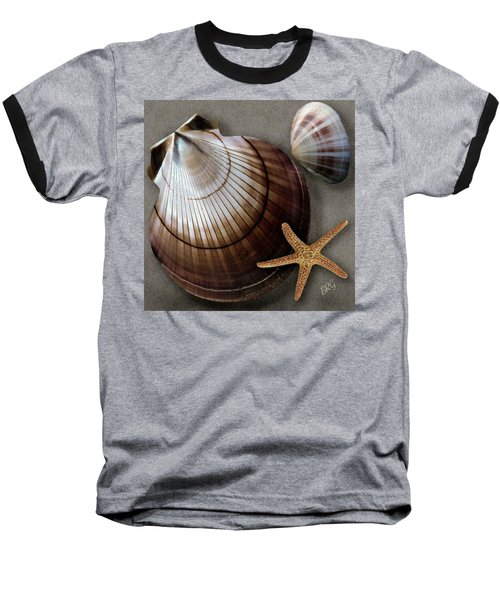Seashells Spectacular No 38 Baseball T-Shirt by Ben and Raisa Gertsberg