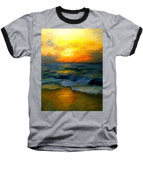 Seaside Sunset Baseball T-Shirt
