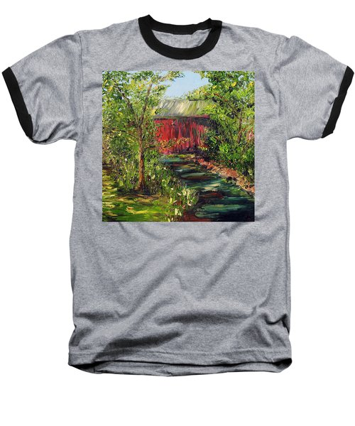 Baseball T-Shirt featuring the painting Season Of Singing by Meaghan Troup