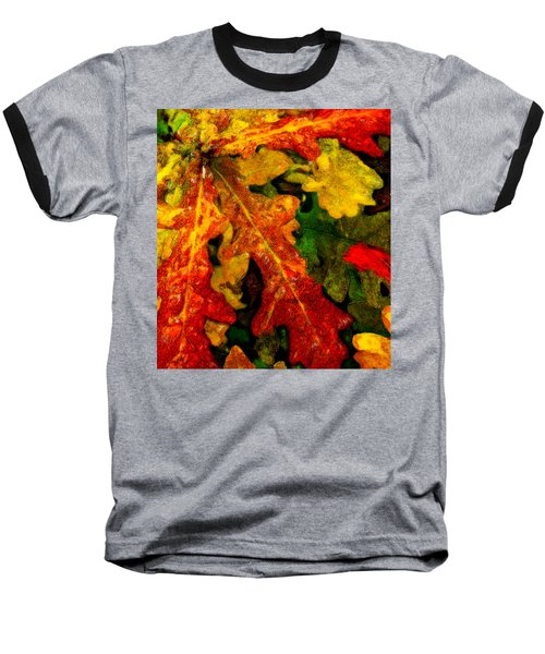 Baseball T-Shirt featuring the digital art Season's End by Chuck Mountain