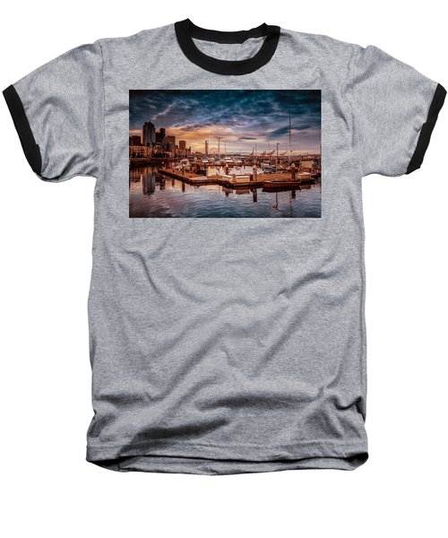 Seattle Marinescape. Baseball T-Shirt by Eti Reid