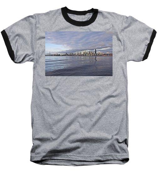 Seattle Skyline Cityscape Baseball T-Shirt