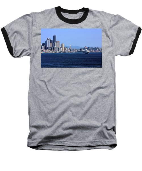 Baseball T-Shirt featuring the photograph Seattle Skyscrapers by Kristin Elmquist