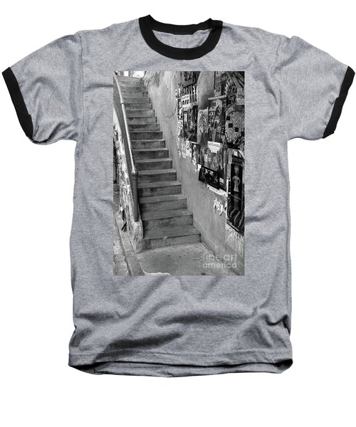 Seattle Stairs Baseball T-Shirt
